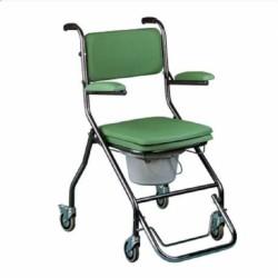Chaise percée avec roulettes pliante GR 192