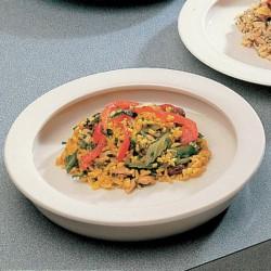 Assiette avec rebord intégré